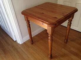Chunky compact wooden table