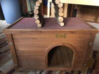 Large outdoor pen and small hiding hutch