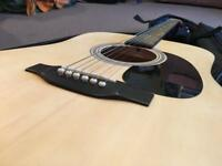 Eastwood acoustic guitar with soft case