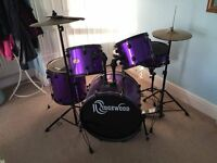 Ridgewood 5 piece drum kit with mute pack