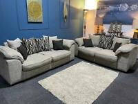 Sold Sofology willow oatmeal fabric suite 3 seater sofa and 2 seater sofa