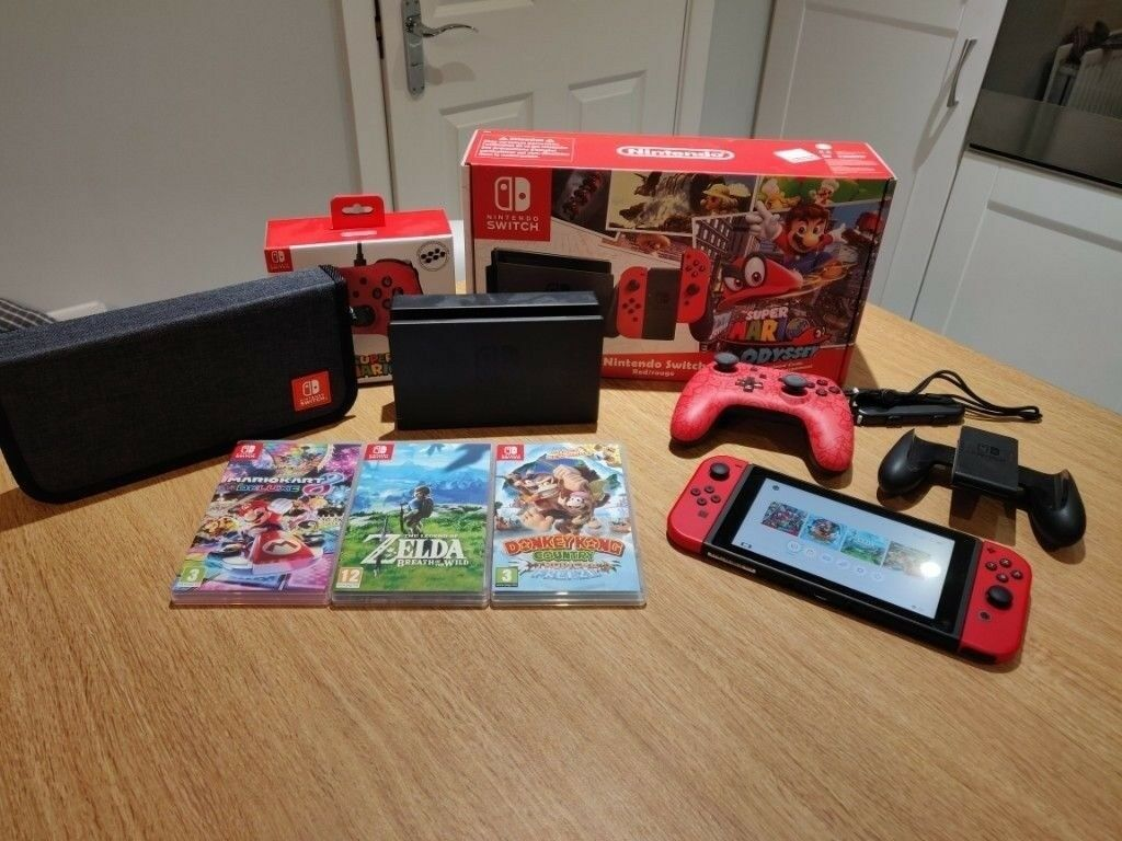Nintendo switch console, 4 games, pro controller and carry case (mint  condition, all boxed) | in Moira, County Armagh | Gumtree