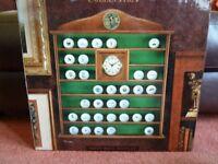 Unused wooden golf ball display case in original packaging. For antique, logo balls, etc.