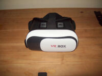 VR Box virtual reality head gear for android ios phone watch movies play games exc cond