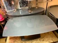 grey high gloss coffee table and lamp table