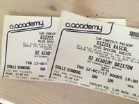2 tickets Dizzee Rascal, Brixton O2, 12 Oct