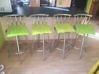 Four stools idea for breakfast bar style dining