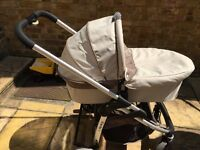 iCandy Cherry Pram And Pushchair Set with complete rain cover and foot muff