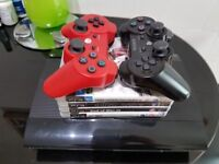 PS3 Super SLim 500gb - 4x games and 2x pads - PlayStation 3 500gb