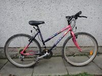 Giant cold rock ladies bike, 26 inch wheels, 21 gears, 19 inch frame