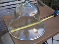 Rare Victorian Large Glass Bell Cloche, shabby chic or garden or conservatory use.
