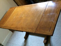 Extendable cherry wood table and 4 chairs