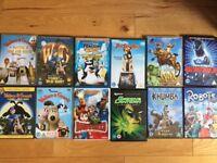 Mix of 12 kids DVDs