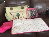 Pink lining Yummy Mummy 'Twice as Nice' Changing Bag