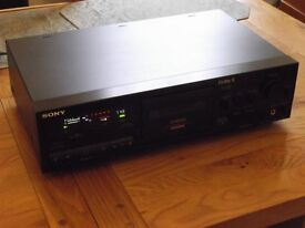 Mint condition Sony TC-K611S hi-fi stereo 3-head 3-motor Dolby S cassette deck - new belt fitted