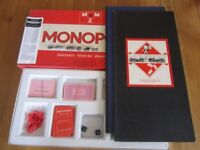 VINTAGE MONOPOLY BOARD GAME WADDINGTONS 1960 - 1970 COMPLETE HARDLY USED EXELLENT CONDIITION