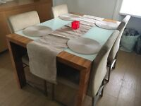 Dwell Extendable Table + 4 Chairs with mirror