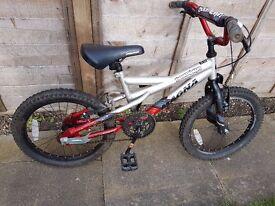 """Boy's Bike 18"""" Wheels suit age 5-8 years approx."""