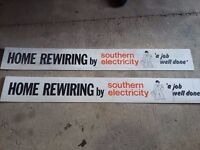 Southern Electric quirky signs