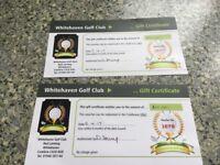 Whitehaven golf clubhouse vouchers