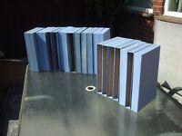 JOB LOT OF 21 BLUE MAGAZINE BOX FOLDERS