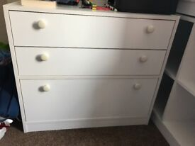 3 pieces of white bedroom furniture