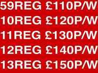 PCO CAR HIRE £110 PRIUS UBER READY FREE 1ST WEEK RENTAL