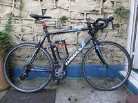 Road Bike: Dawes Giro 300 + bike lock and Shimano click pedals