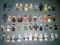 Lego mini figures, most stars wars, some rare