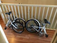 Fold up bikes x2
