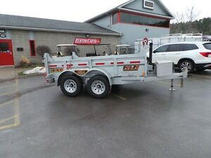 2017 N&N 5Ton Galvanized Dump Trailer - 6x10 HOT DIPPED GALV