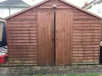 Large 10ft x 8ft garden shed