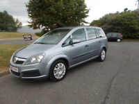 VAUXHALL ZAFIRA 1.6 LIFE 7 SEATER MPV SILVER/BLUE 2007 BARGAIN ONLY £1450 *LOOK* PX/DELIVERY