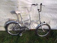 Gorgeous Vintage Folding Bike, Mayfair, 20 inch wheels, chrome fittings, folding