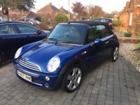Mini Cooper 1.6 2 door convertible with chilli pack 2007 69000 miles