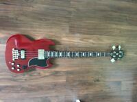 URGENT. Epiphone EB-3 SG bass guitar-Cherry