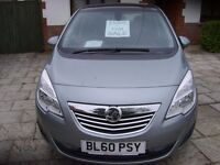 Vauxhall Meriva 1.7 CDTi 16v SE 5dr Automatic Crusie Control Panoramic Roof Auto Lights/Wipers