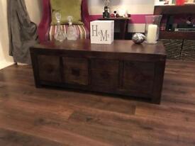 Dakota- Mango Wood furniture bundle bookcase, coffee table, nest of tables