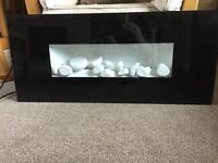 Nearly new coal effect plug in electric fire - oblong shaped