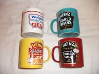 Set of 4 Heinz, Kilncraft, Mugs. BRAND NEW & Unused. ONLY £6 The Lot