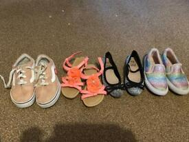 Selection of size 9 girls shoes all excellent condition