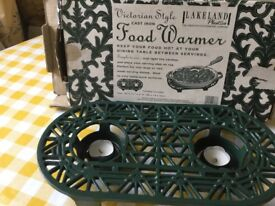 Victorian Style food warmer cast iron