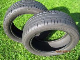 X2 Yokohama Advan A11A 205/50 R16 87V tyres 5.5mm Tread