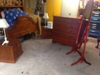 Bedroom furniture . Good up cycling project or use as is.