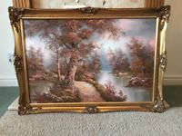 X3 Beautiful I Cafieri signed Oil Paintings with Gilt Frame