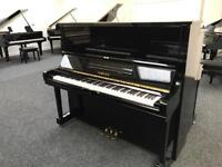 Yamaha U3 Upright Piano Black with 3 Year warranty and Stool free local delivery
