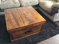 Solid wood coffee table / storage trunk
