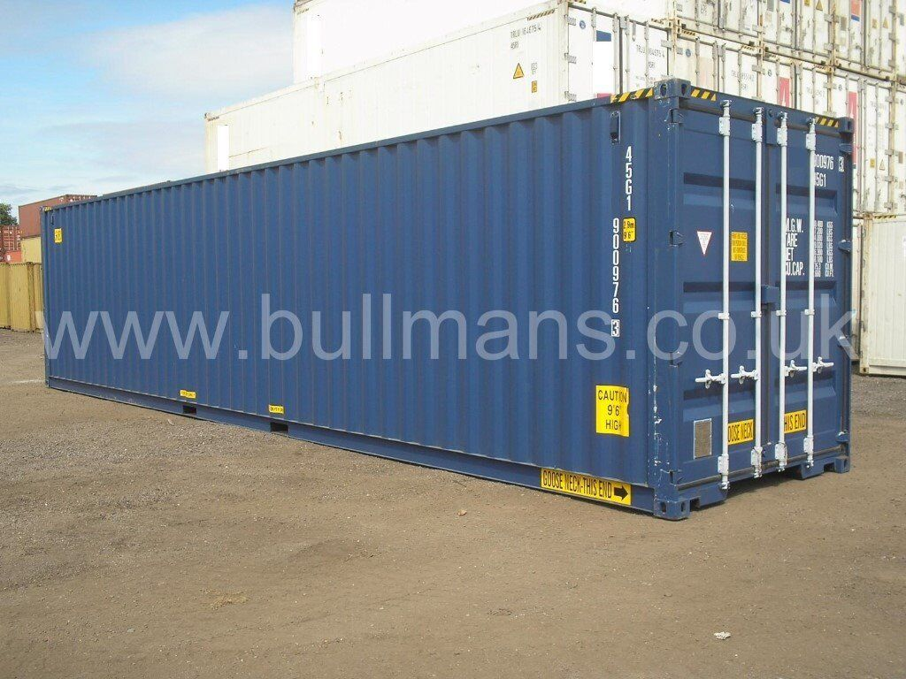 40ft High cube tunnel new build / single trip steel container, storage container, site container