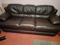 Genuine Leather 3 seater and 2 seater sofas