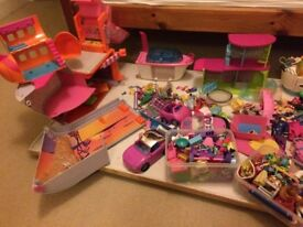 Polly Pocket - LOADS of dolls, clothes, furniture and accessories